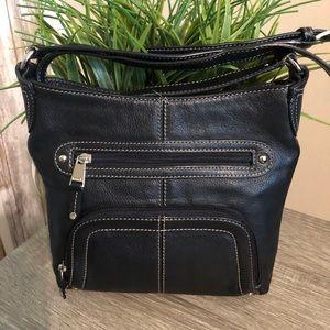 Black Tignanello Crossbody Handbag
